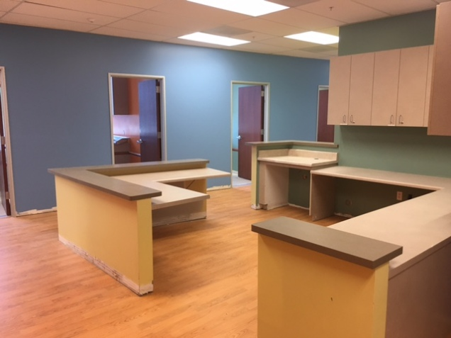 nurse station, medical office, TI, tenant improvement, Dowling Construction